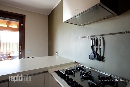 Microcemento en cocina